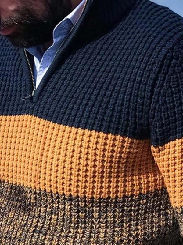 Color Block Standard Casual Fall Sweater