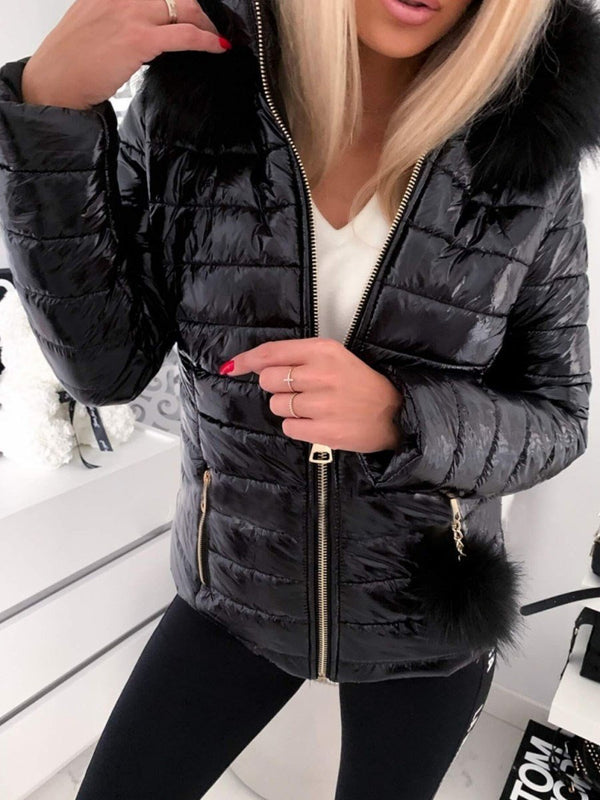 Slim Zipper Standard Cotton Padded Jacket