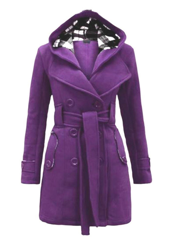 Slim Belt Regular Mid-Length Fall Overcoat