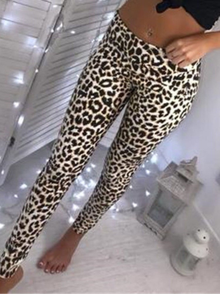Fashion Leopard Print High-Waist Leggings
