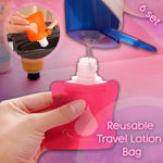 Reusable Travel Lotion Bag (6 in set)