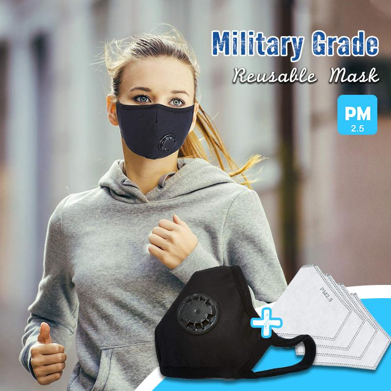 Military Grade Reusable Filter Mask