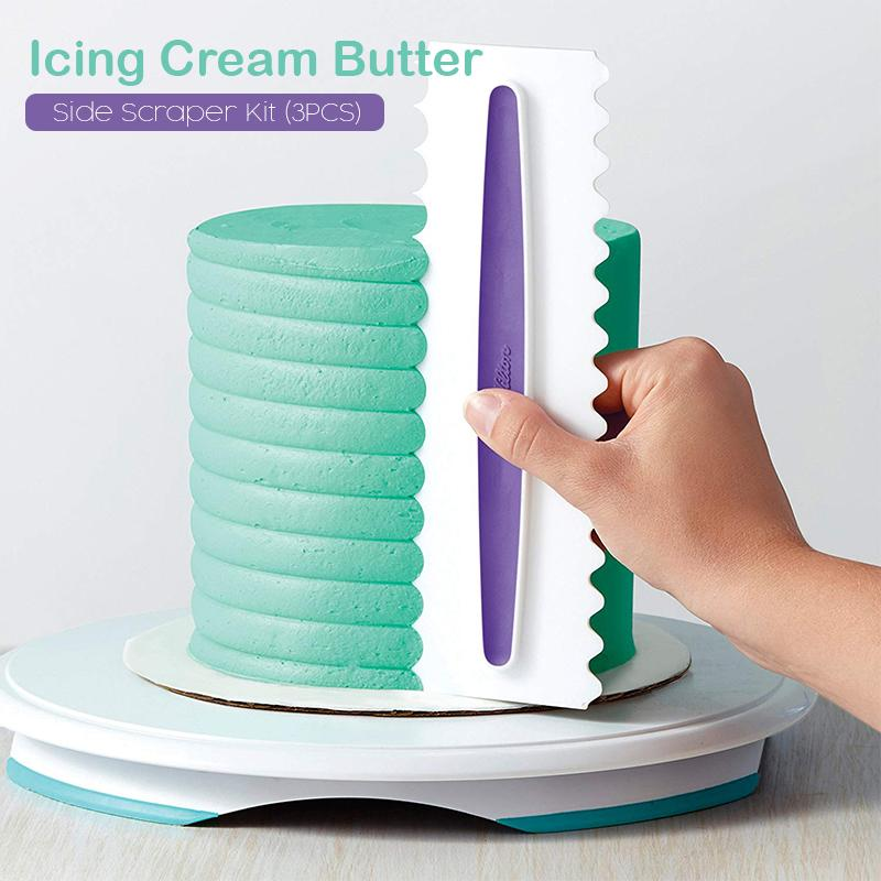 Icing Cream Butter Side Scraper Kit (3PCS)