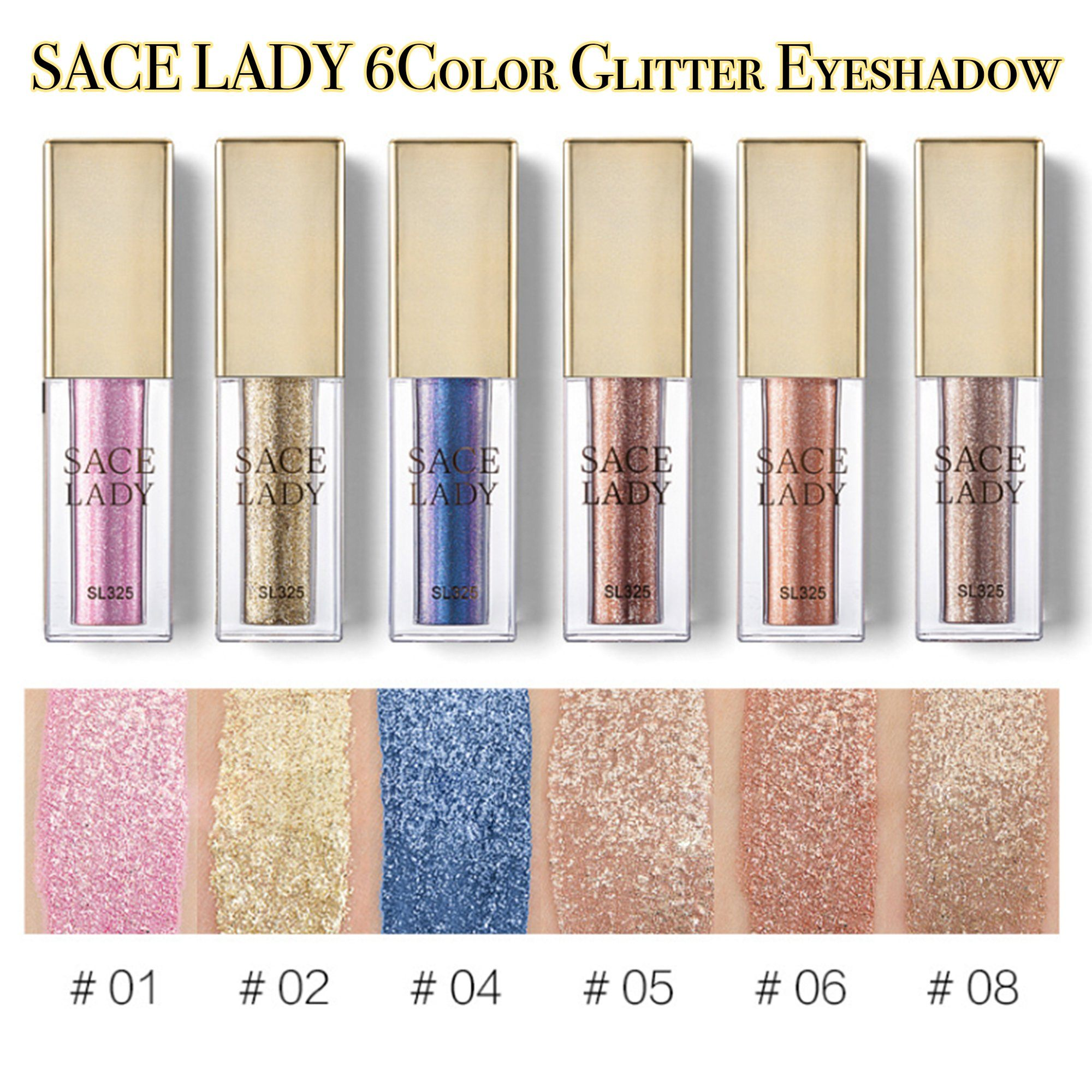 SACE LADY 6Color Glitter Eyeshadow