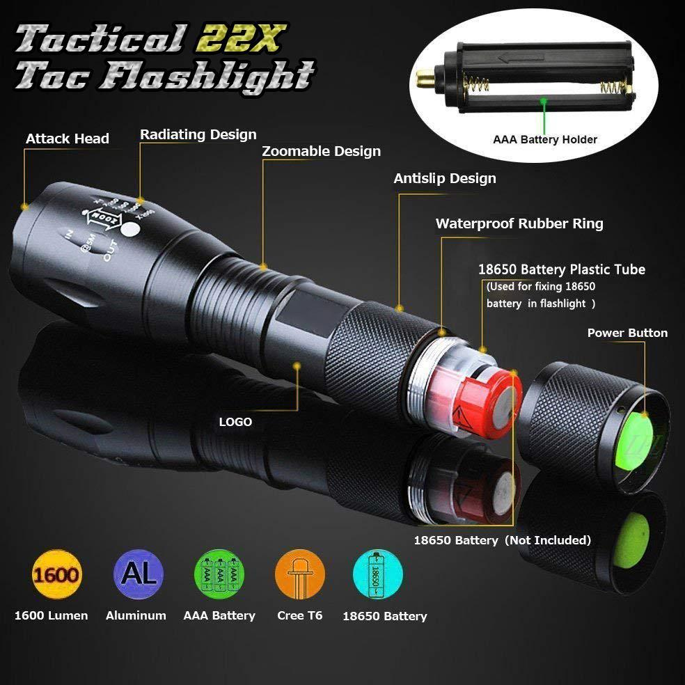 Outdoor Water-Resist Zoomable Flashlight
