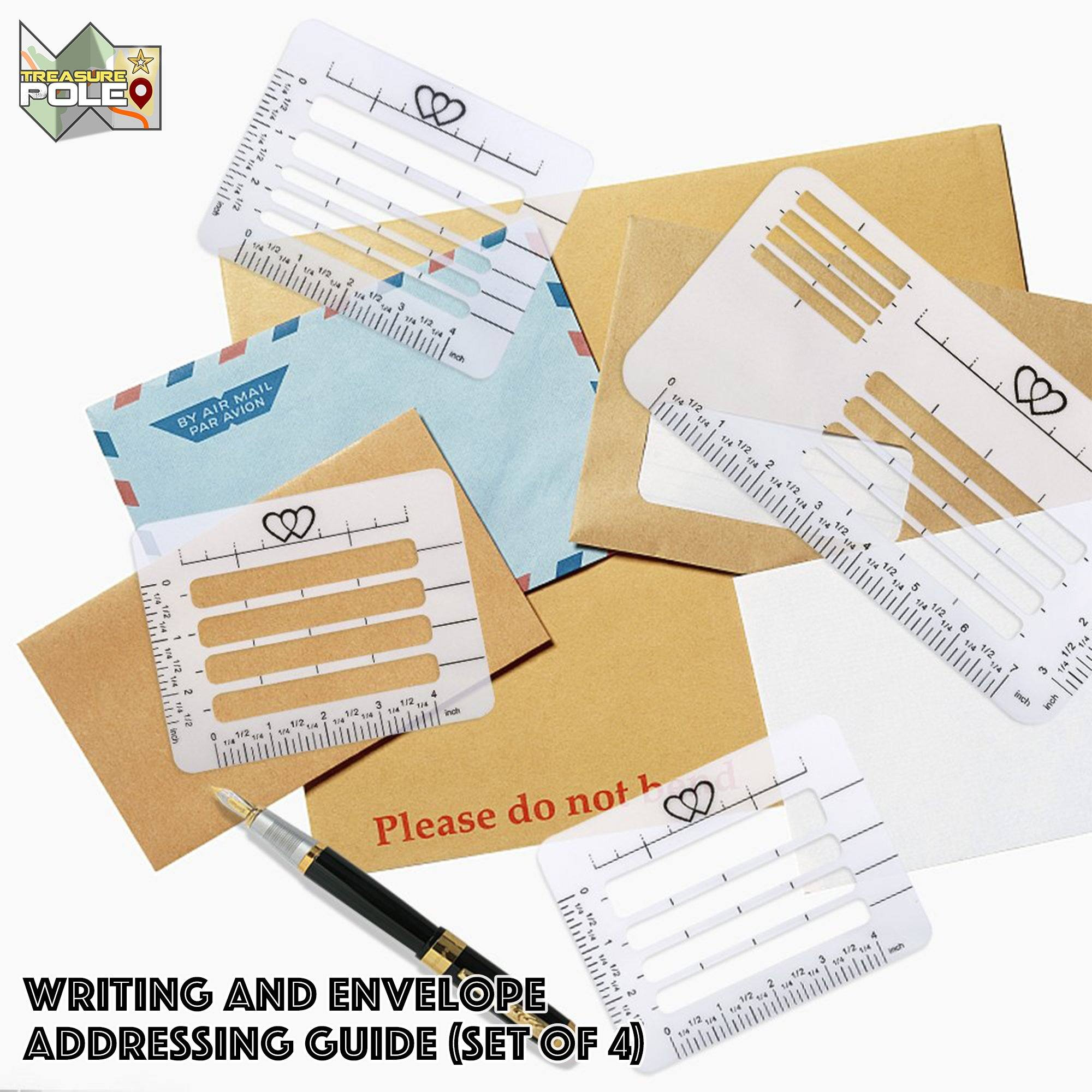 Envelope Addressing Guide (Set of 4)