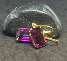 Swarovski Large Amethyst Octagon Earrings