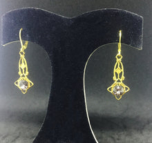 Vintage Gold Filigree with Black Diamond Rhinestones