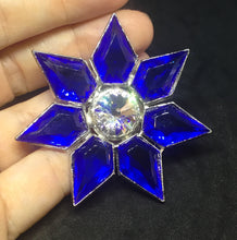 Bright Capri Blue Star with Pentagon/Kite Rhinestones