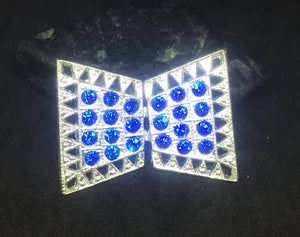 Petite Capri Blue Art Deco Belt Buckle