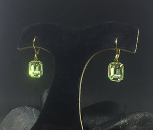 Swarovski Chrysolite Octagon Earrings