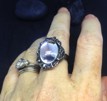 Funky Clear Cabochon Ring