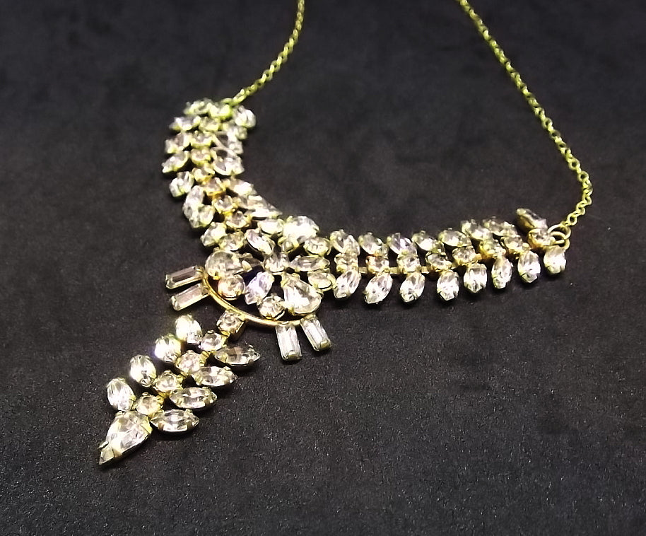 Fabulous 1940's De Curtis rhinestone necklace