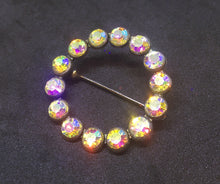 1930's Circle Scatter pin Crystal Clear AB