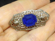 Edwardin Pin with Sapphire Octagon