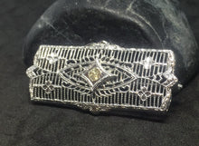 Edwardian Rectangle Steel Cut pin