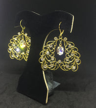 Sparkly Vintage Filigree Earrings