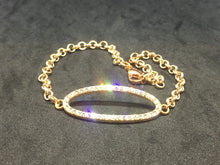 Rose Gold with Rhinestone Oval