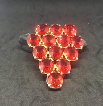 Light Siam Red Triangle Dress Clip