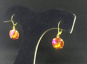 Summer Blush Rivoli Drop Earrings