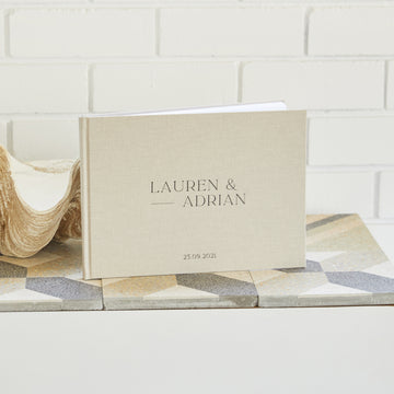 Bloom Linen Guest Book