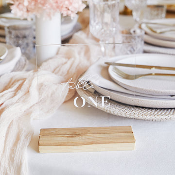 Square Table Number