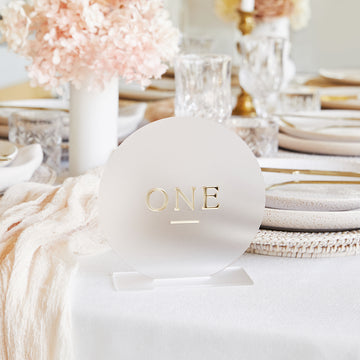 3D Circle Table Number