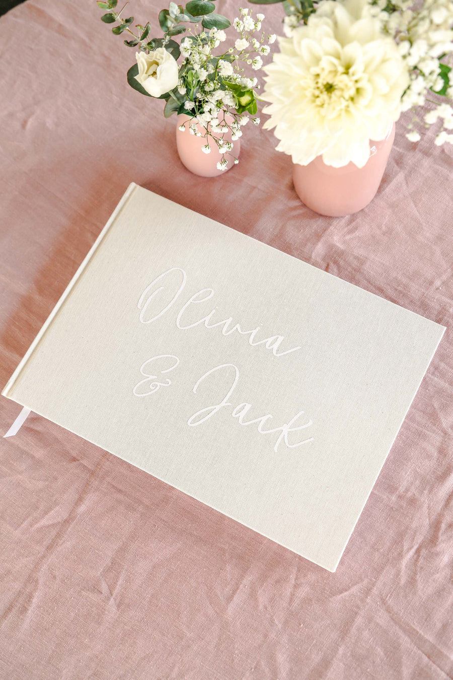 The Olivia Linen Guest Book