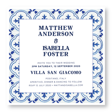 Positano Invitation