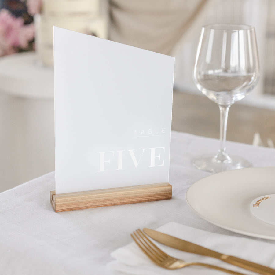 Angled Table Number