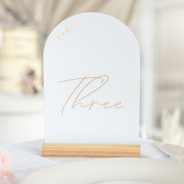 Arched Table Number
