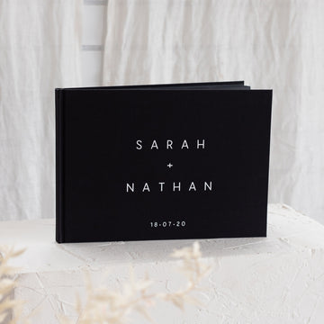 The Minimalist Linen Guest Book