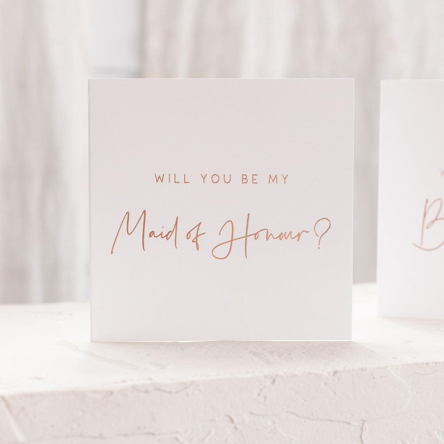 Maid of Honour Proposal Card