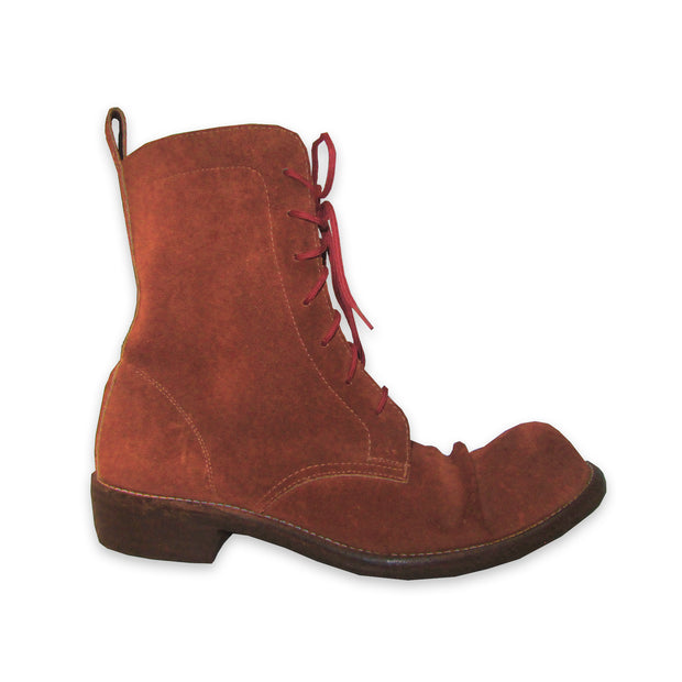 Burnt Red Suede Popeye Boots Size 8