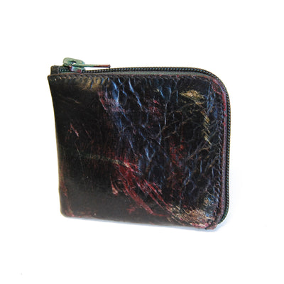 Zip Wallet, Multicolor Patina Leather
