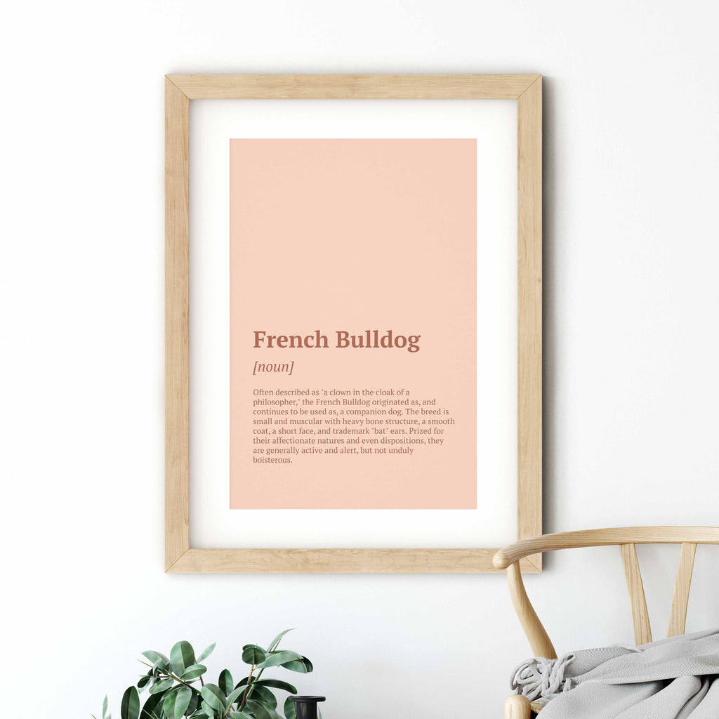 French Bulldog Definition Poster