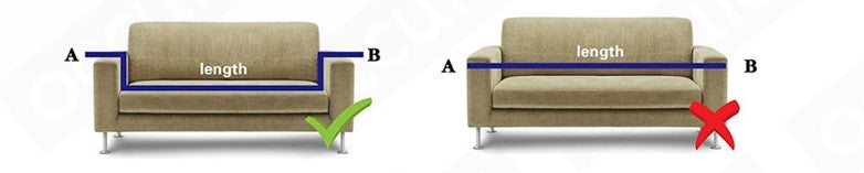 sofa cover - correct measuring