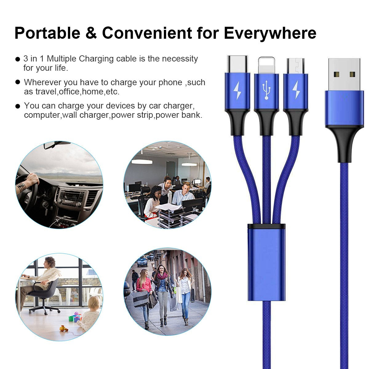 3in1 USB cable - uses