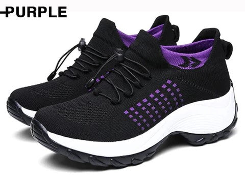 Comfortable Hiking Shoes Purple