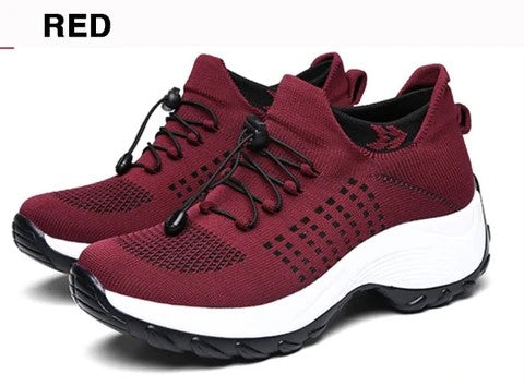 Comfortable Hiking Shoes Red