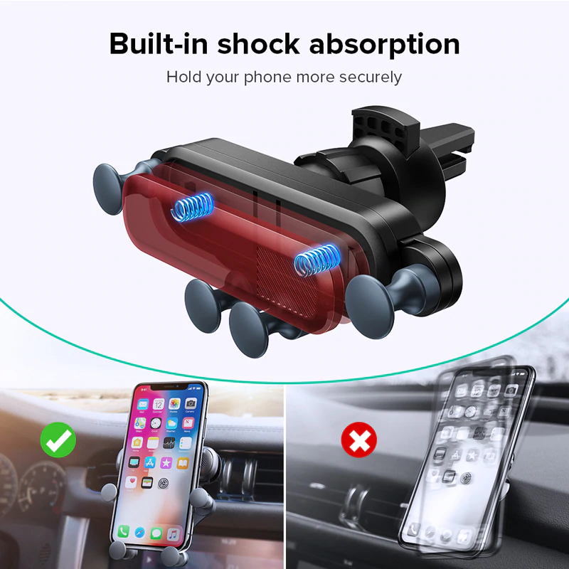 Gravity phone holder