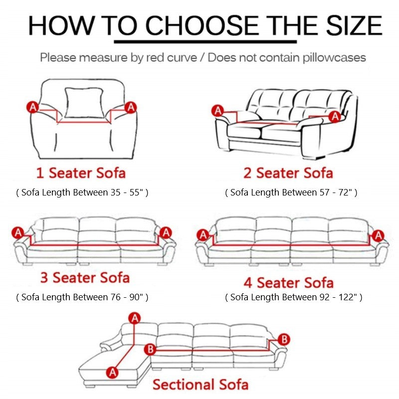 Sofa cover size