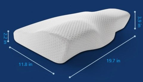 cervical pillow size  cut