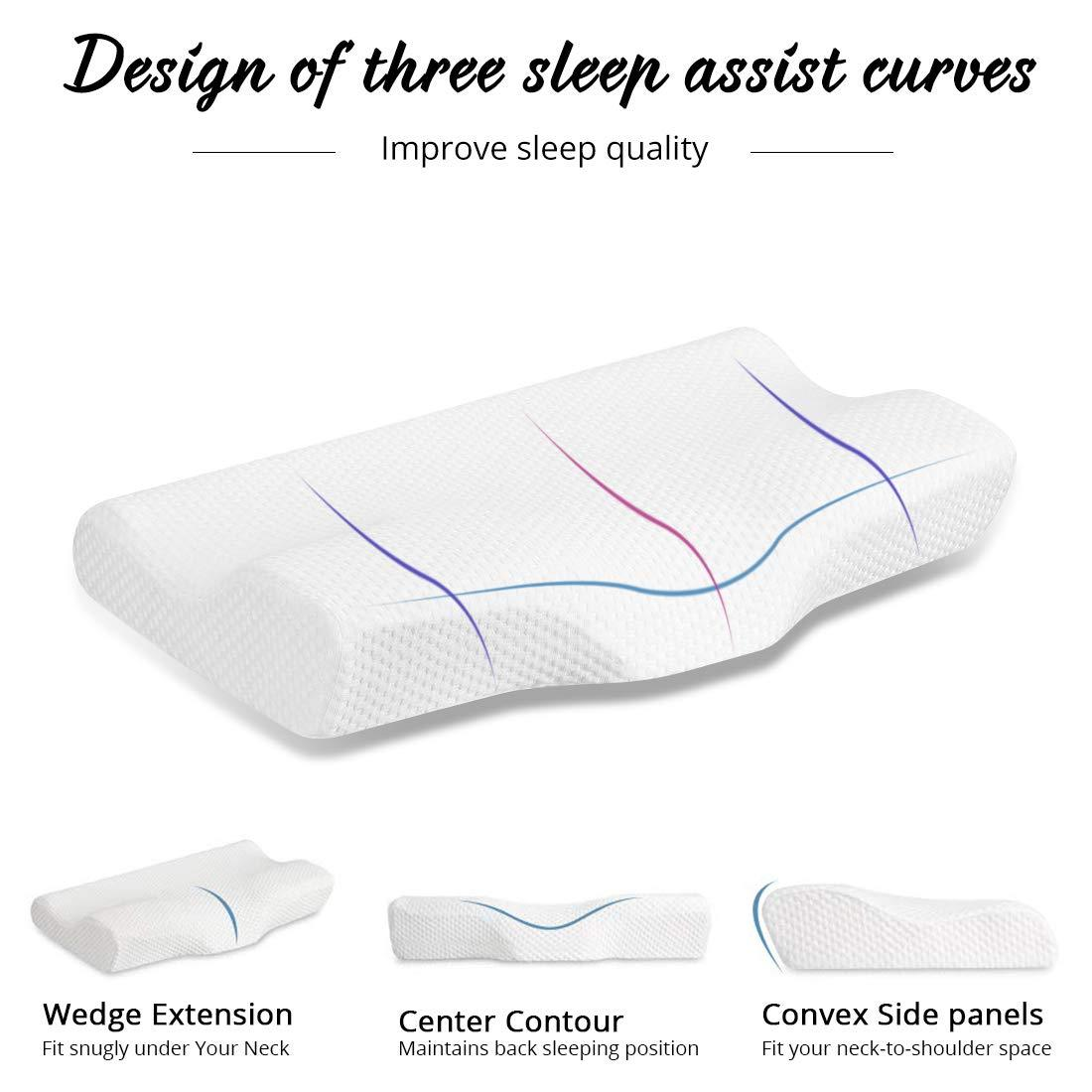 WealthSleep™ Contoured Cervical Orthopedic Pillow
