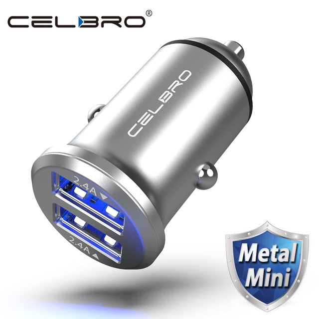 CELBRO Dual USB Car Charger Adapter 4.8A