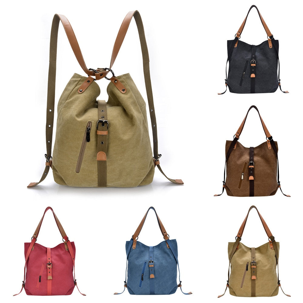 LARA Canvas Handbags Totes Shoulder Bag Backpack Messenger Bag