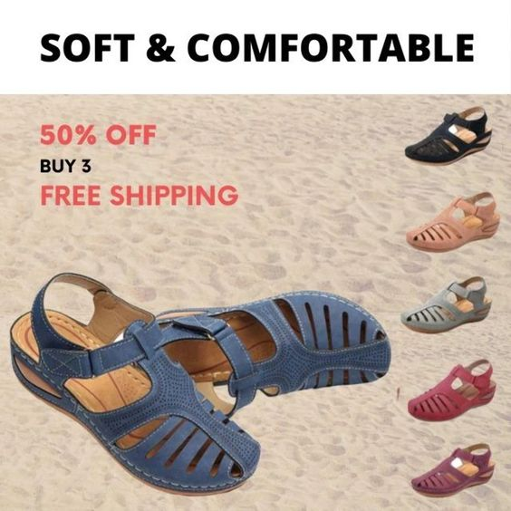 Orthopedic Premium Comfy Lightweight Leather Sandal (From Size 6 - 14)