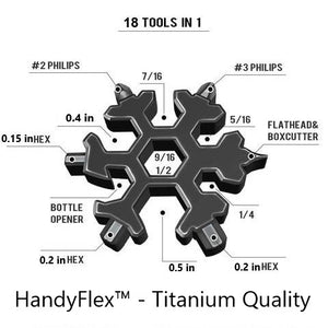 HandyFlex™ 18-in-1 Stainless Steel Snowflake Multi-tool