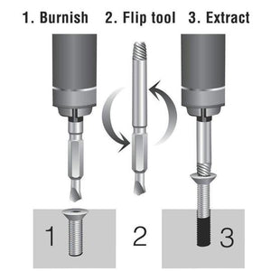CleverKit™ 4 in 1 Screw Extractor Drill Bits Set