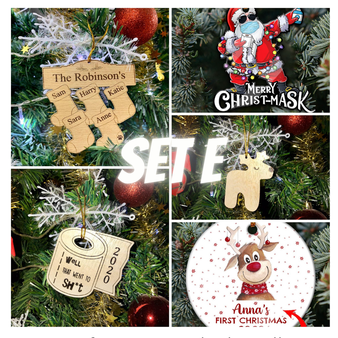DIY Christmas Ornaments 2020 - Set E